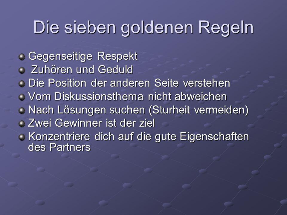Die sieben goldenen Regeln