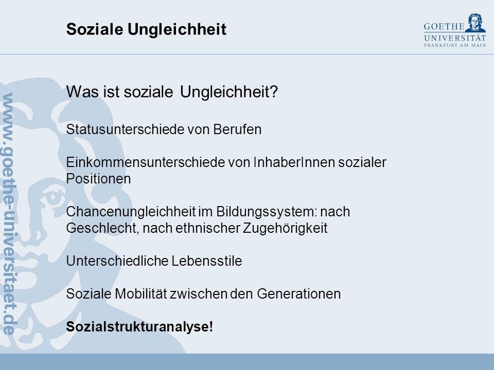 Was ist soziale Ungleichheit