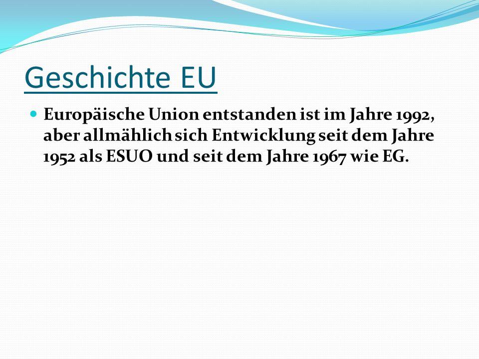 Geschichte EU
