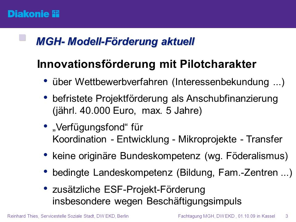 MGH- Modell-Förderung aktuell