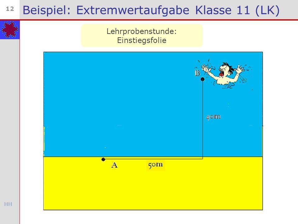 Beispiel: Extremwertaufgabe Klasse 11 (LK)