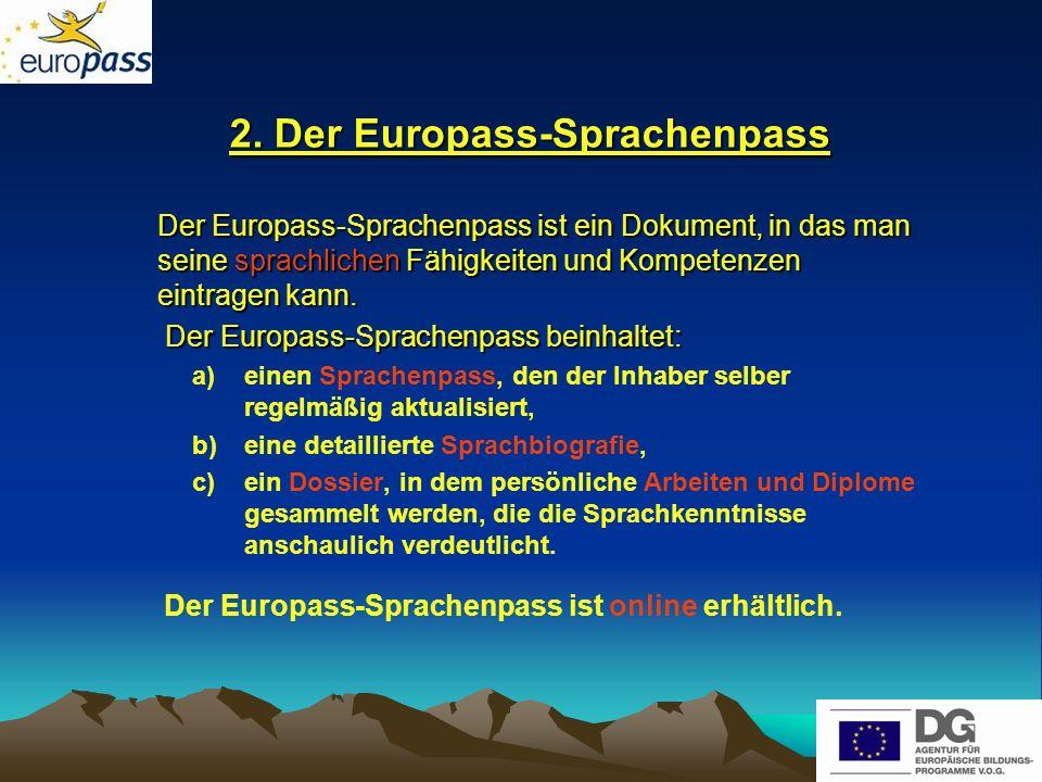2. Der Europass-Sprachenpass