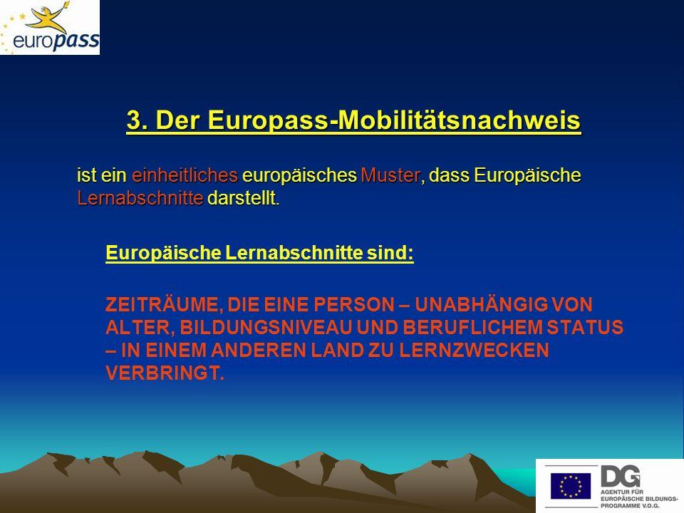 3. Der Europass-Mobilitätsnachweis