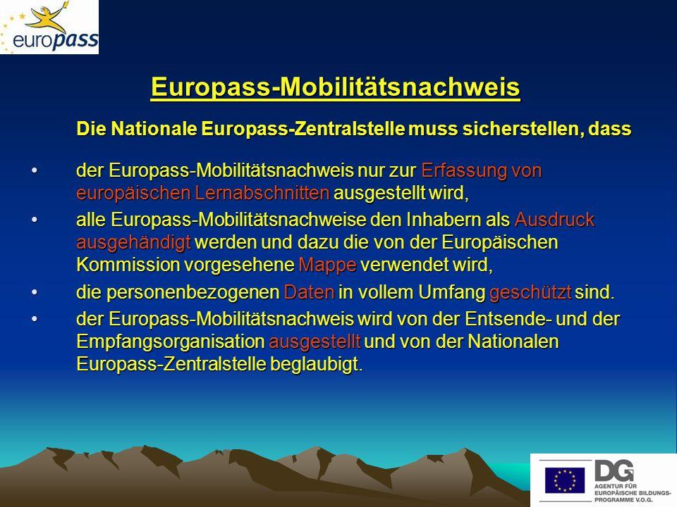 Europass-Mobilitätsnachweis