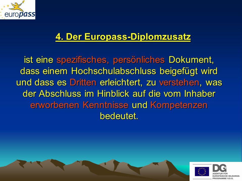 4. Der Europass-Diplomzusatz