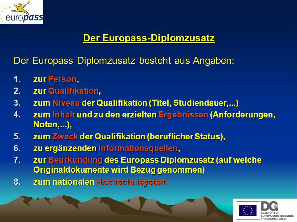 Der Europass-Diplomzusatz