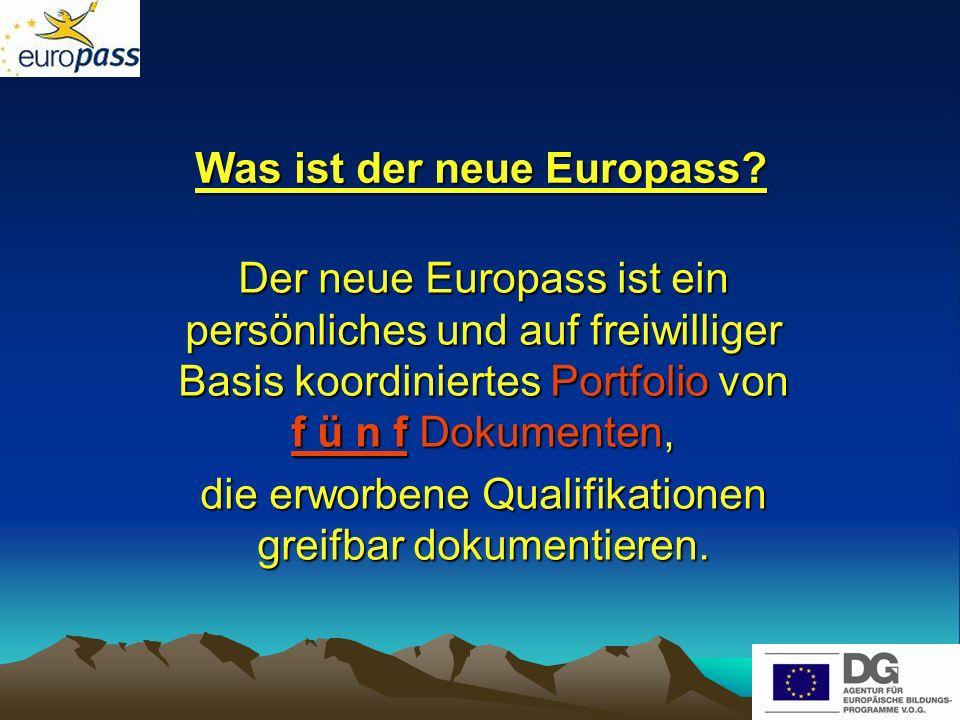 Was ist der neue Europass