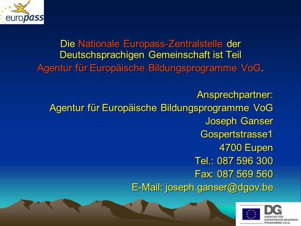 Agentur für Europäische Bildungsprogramme VoG.