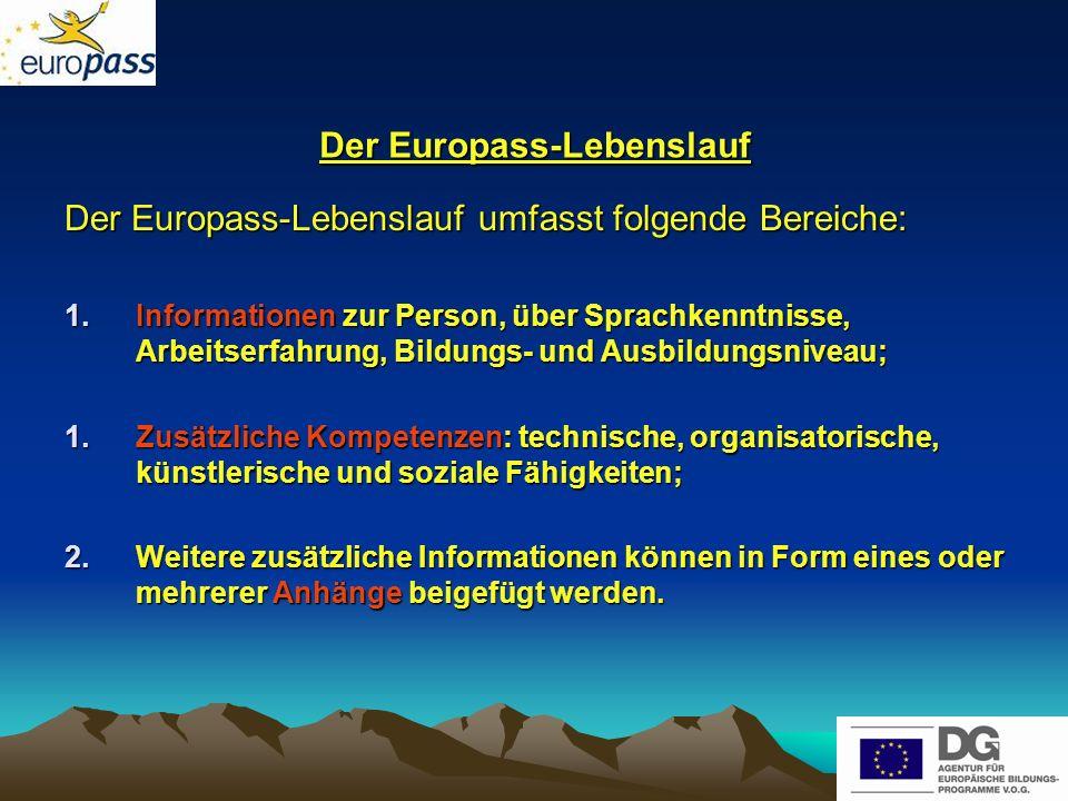 Der Europass-Lebenslauf