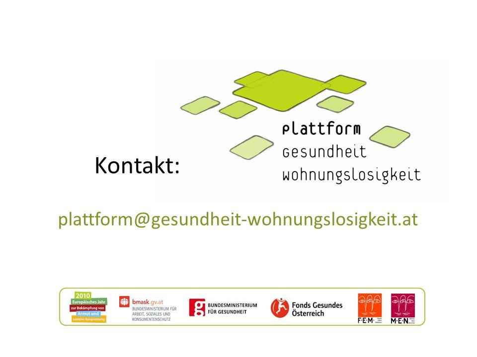 Kontakt: plattform@gesundheit-wohnungslosigkeit.at