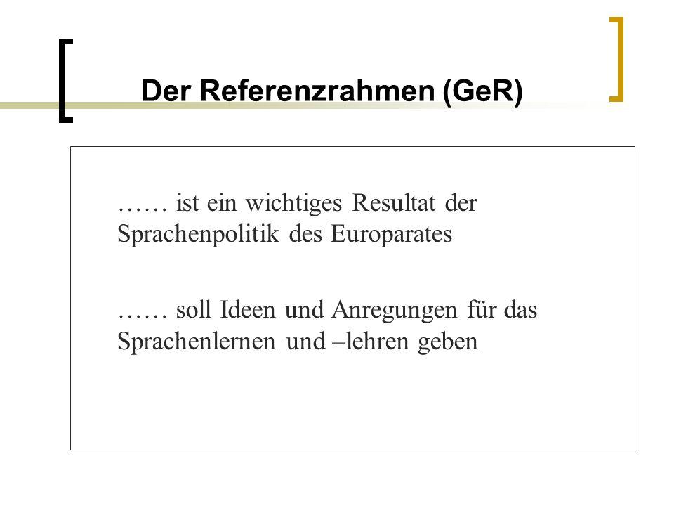 Der Referenzrahmen (GeR)