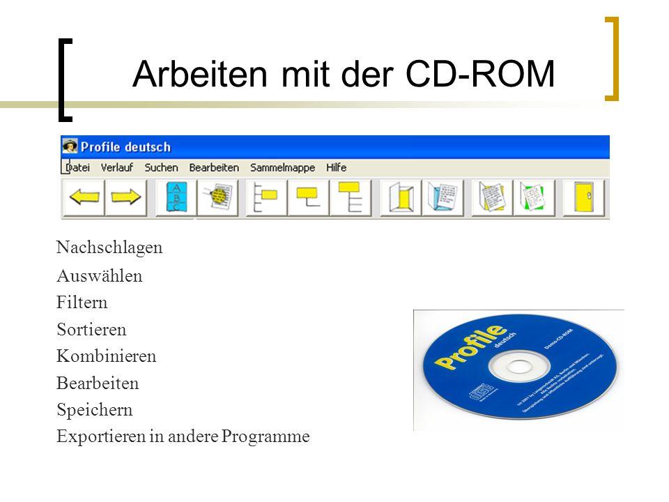Arbeiten mit der CD-ROM