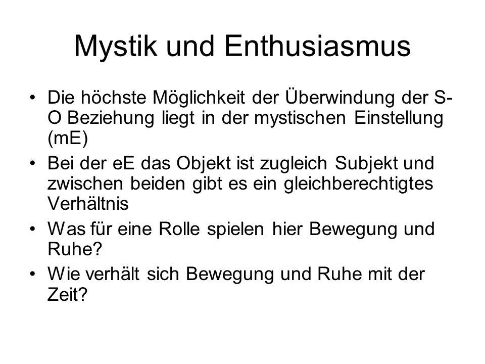 Mystik und Enthusiasmus