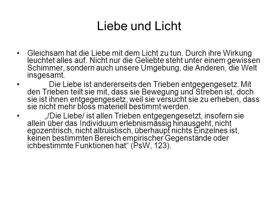 Liebe und Licht