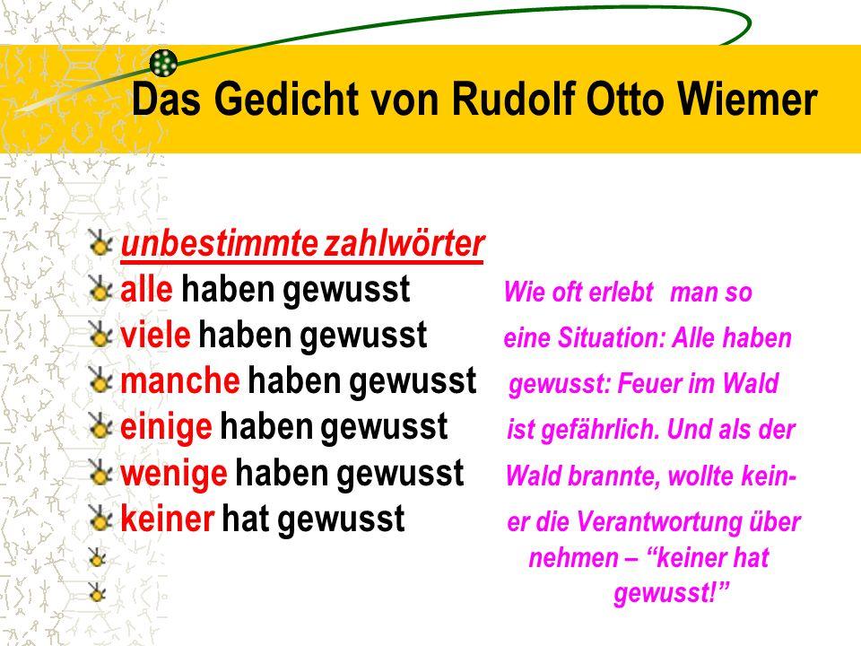 Das Gedicht von Rudolf Otto Wiemer