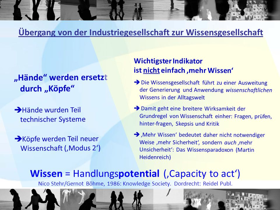 Wissen = Handlungspotential ('Capacity to act')