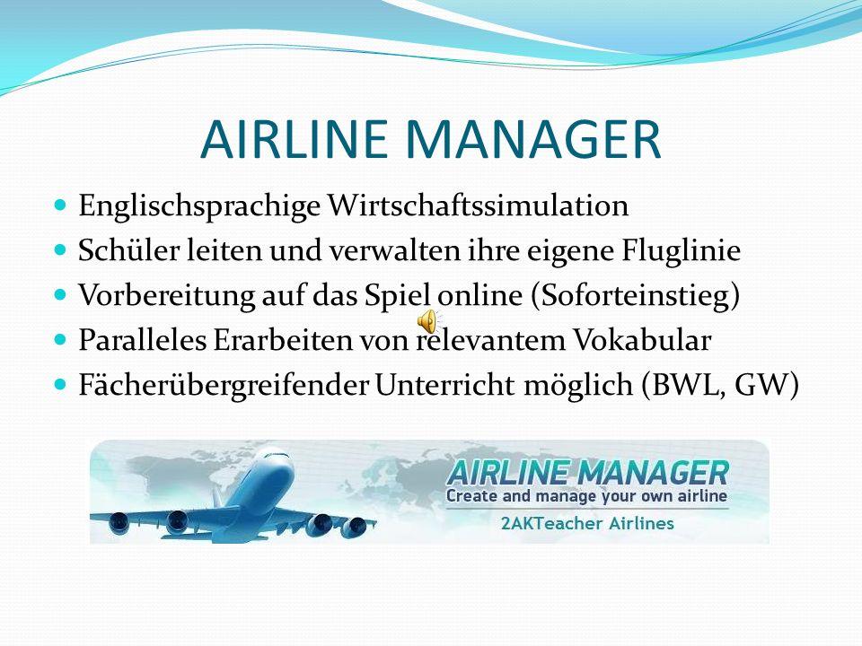 AIRLINE MANAGER Englischsprachige Wirtschaftssimulation