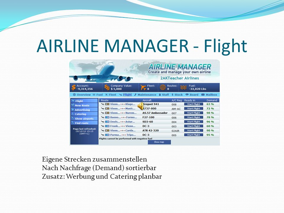 AIRLINE MANAGER - Flight
