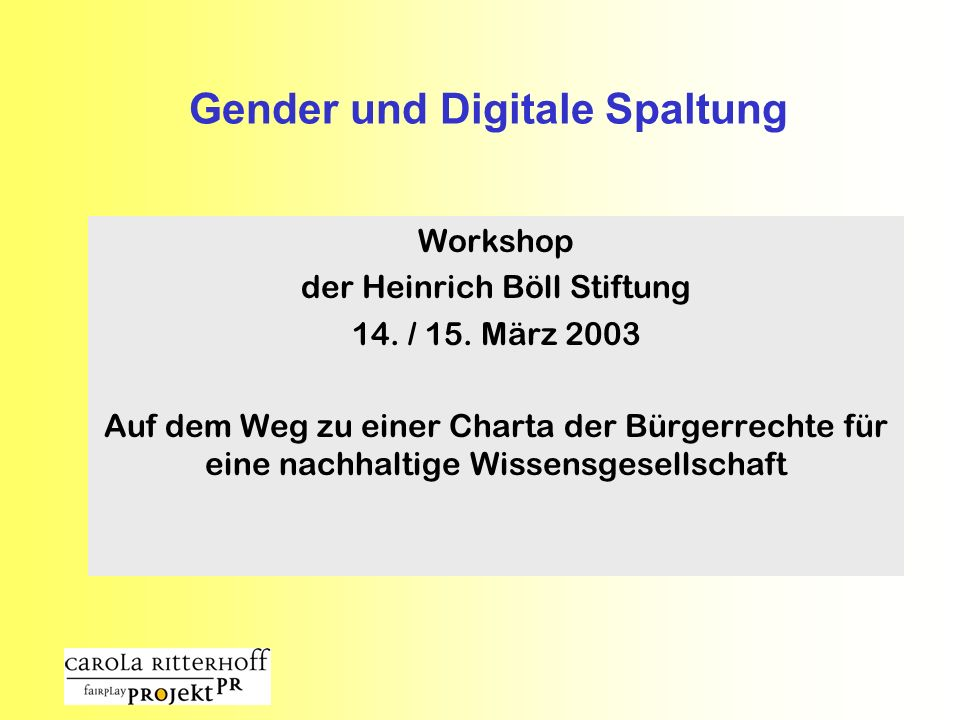 Gender und Digitale Spaltung