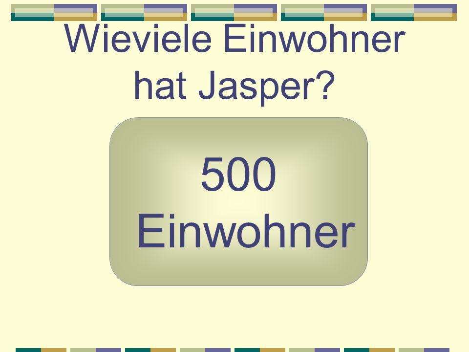 Wieviele Einwohner hat Jasper