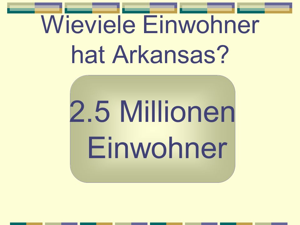 Wieviele Einwohner hat Arkansas