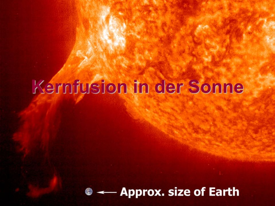 Kernfusion in der Sonne