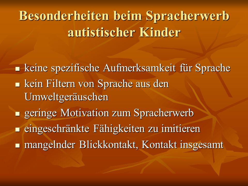 Besonderheiten beim Spracherwerb autistischer Kinder