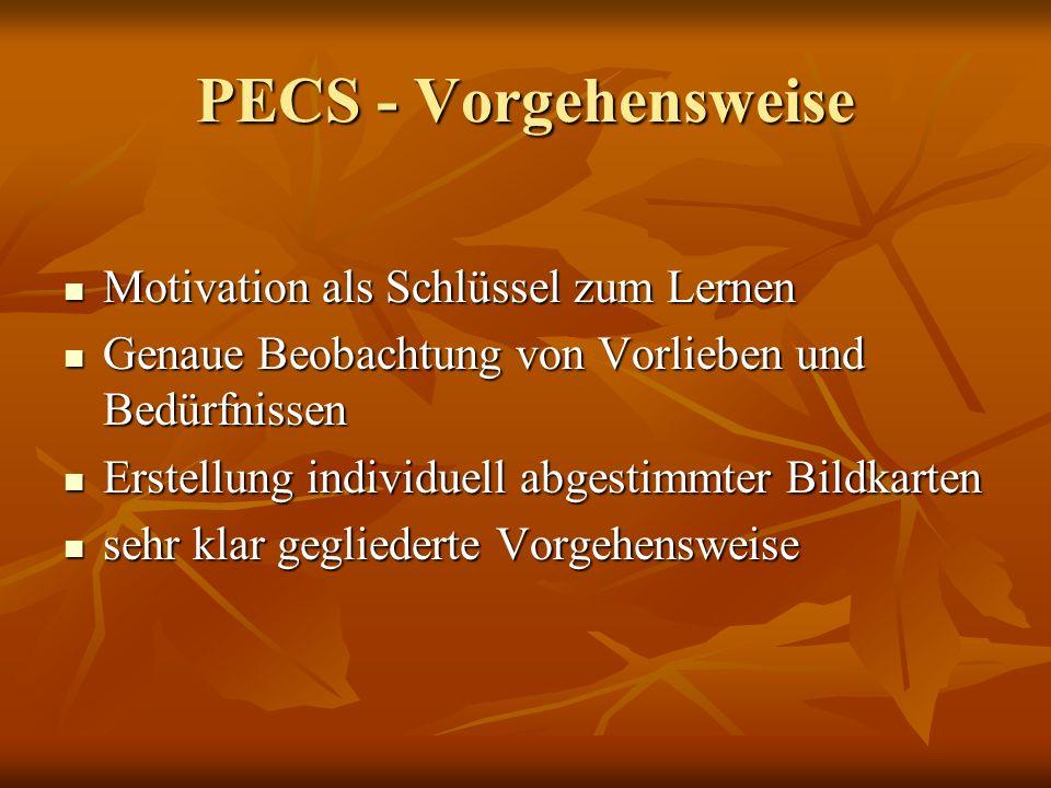 PECS - Vorgehensweise Motivation als Schlüssel zum Lernen