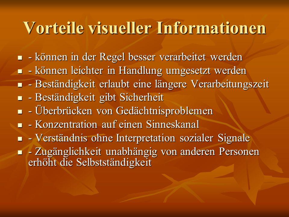 Vorteile visueller Informationen