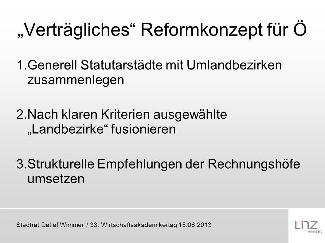 """""""Verträgliches Reformkonzept für Ö"""