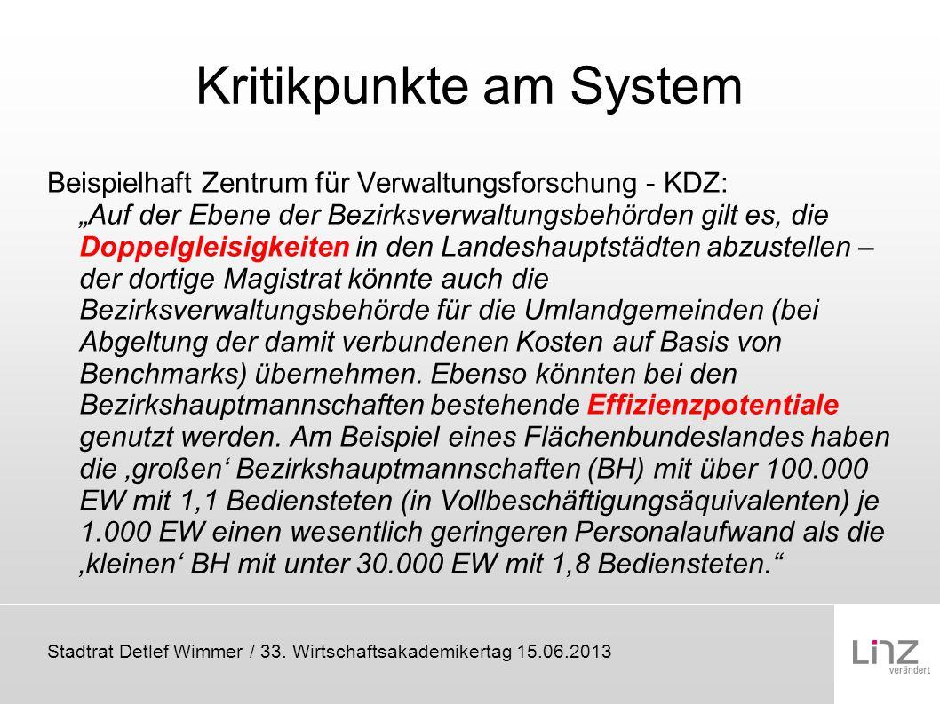 Kritikpunkte am System