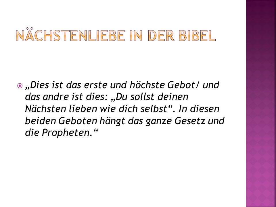 Nächstenliebe in der bibel