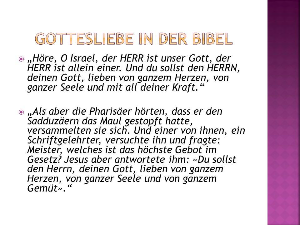 Gottesliebe in der Bibel