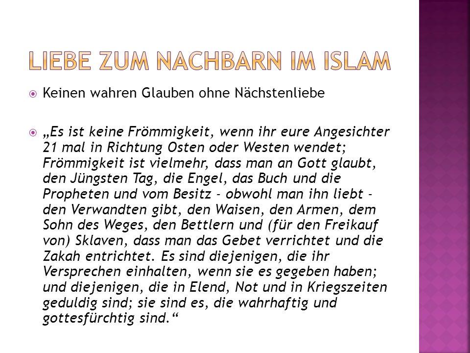 Liebe zum Nachbarn im Islam