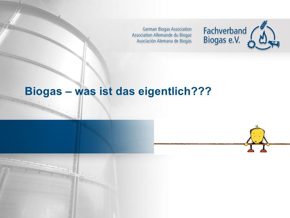 Biogas – was ist das eigentlich