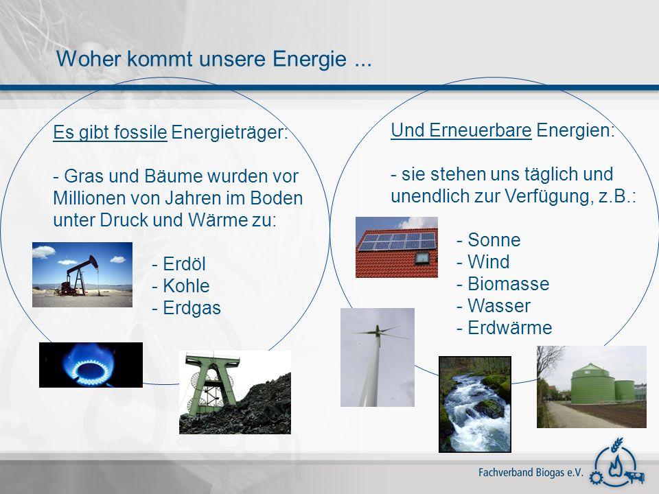 Woher kommt unsere Energie ...