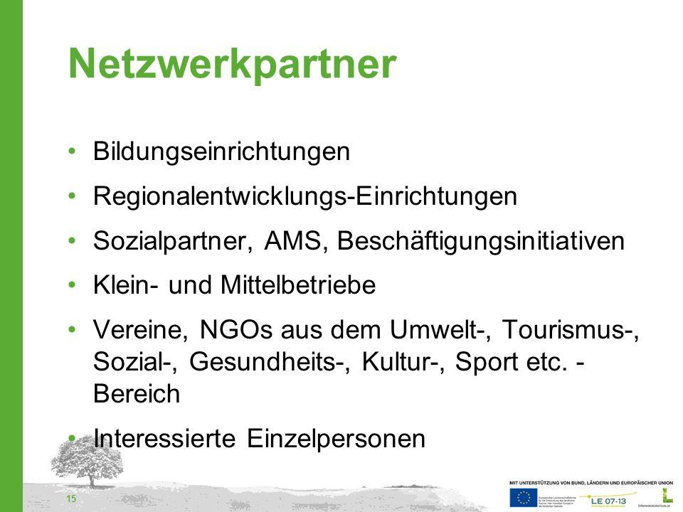 Netzwerkpartner Bildungseinrichtungen