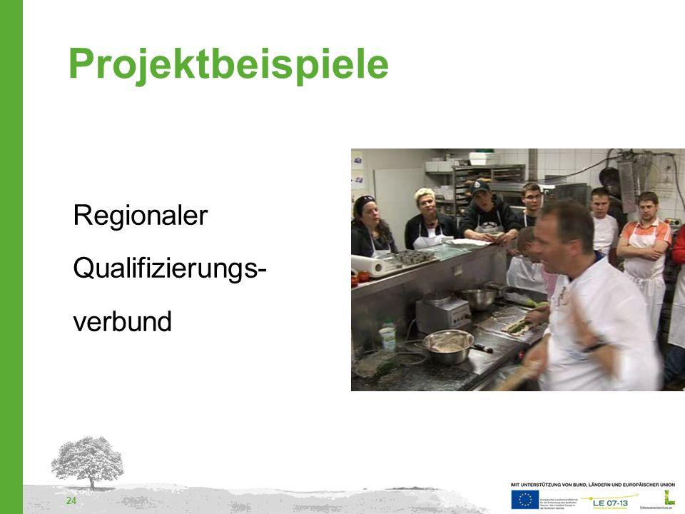 Projektbeispiele Regionaler Qualifizierungs- verbund