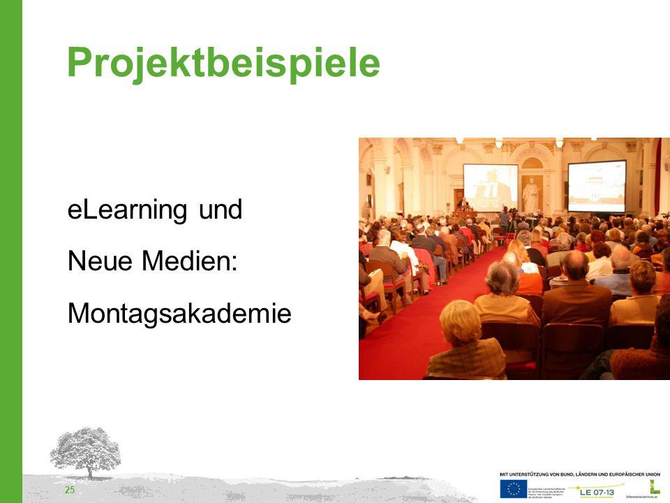 Projektbeispiele eLearning und Neue Medien: Montagsakademie