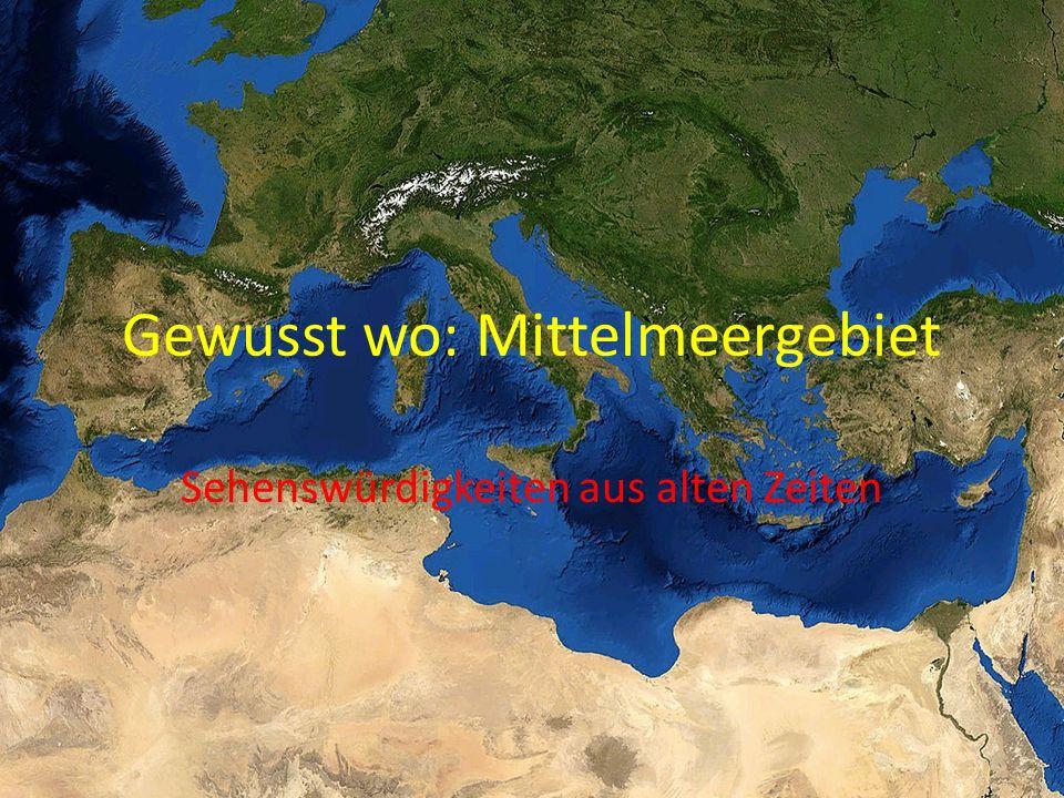 Gewusst wo: Mittelmeergebiet