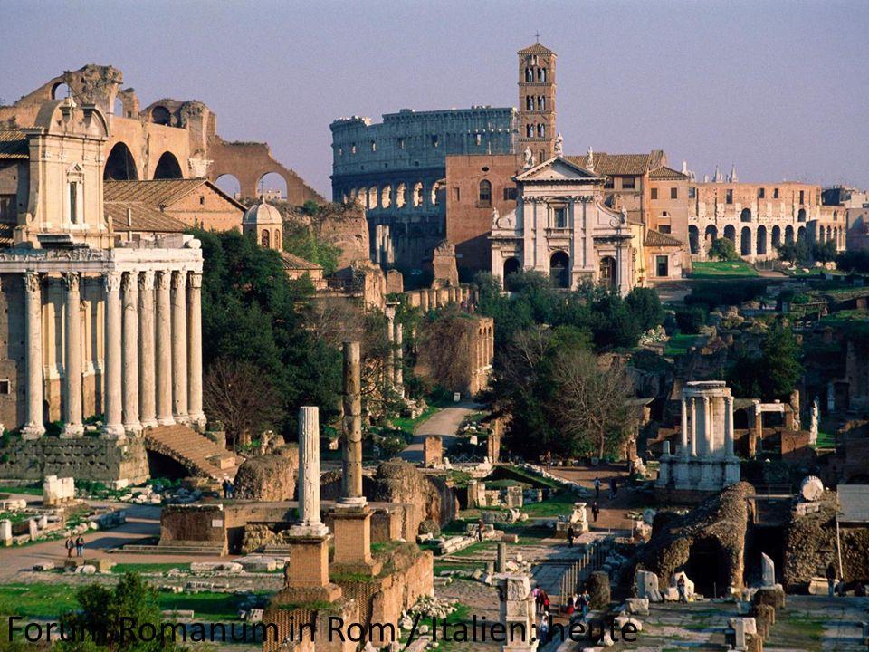 Forum Romanum in Rom / Italien: heute