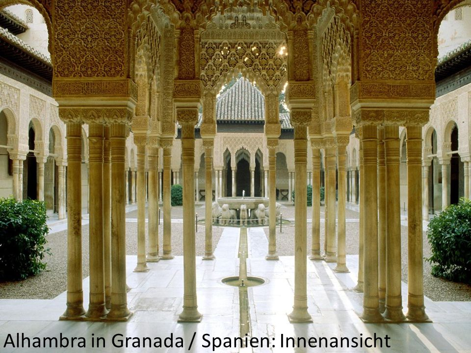 Alhambra in Granada / Spanien: Innenansicht