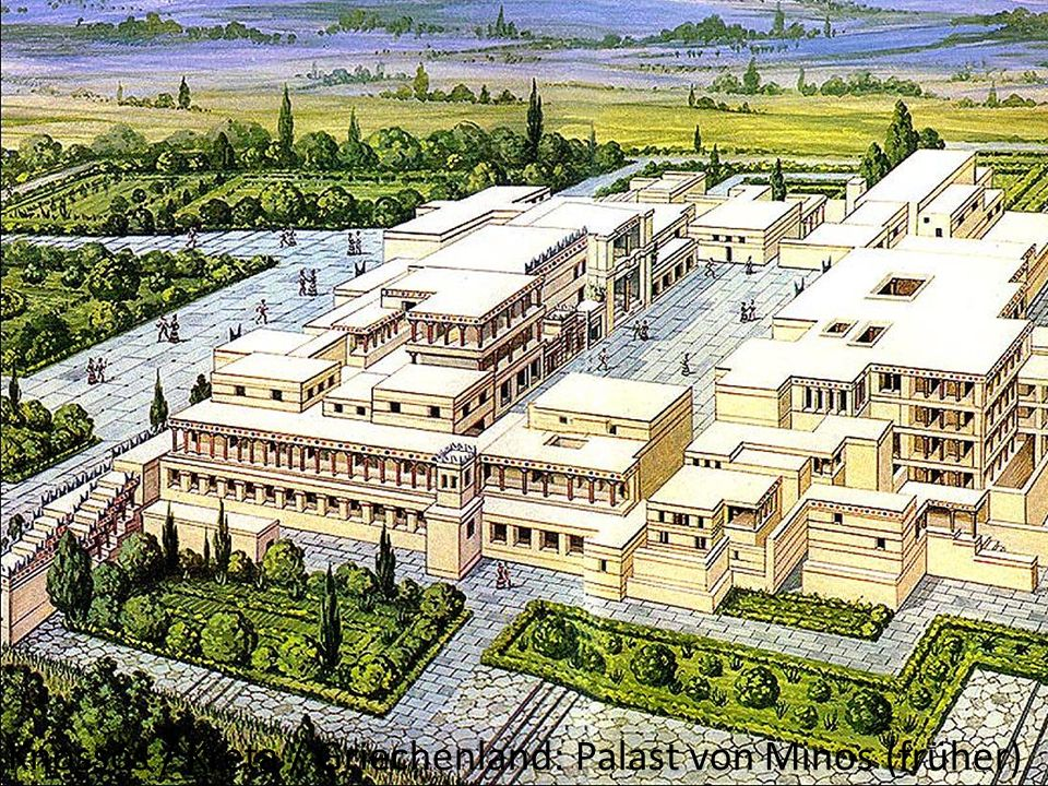 Knossos / Kreta / Griechenland: Palast von Minos (früher)