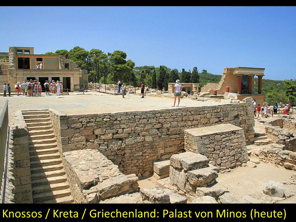 Knossos / Kreta / Griechenland: Palast von Minos (heute)