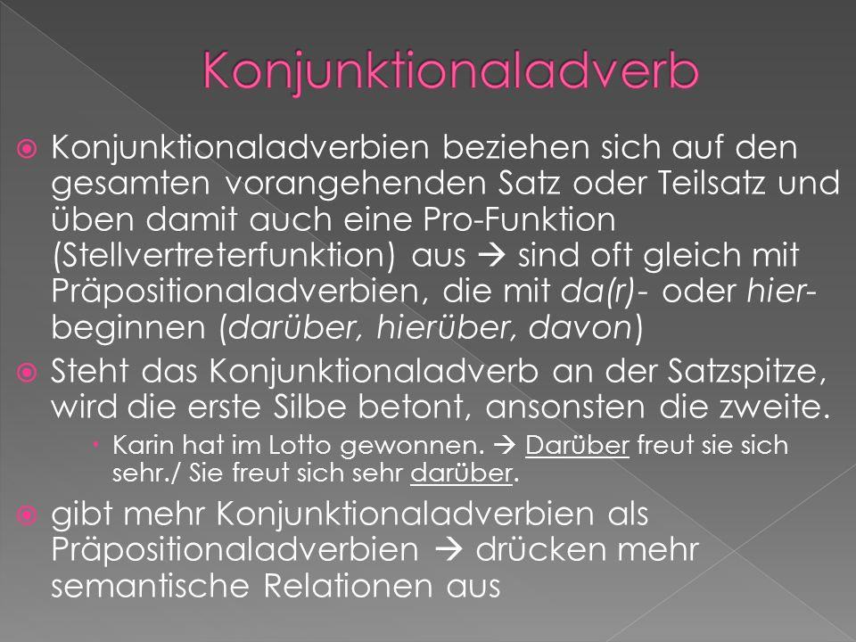 Konjunktionaladverb