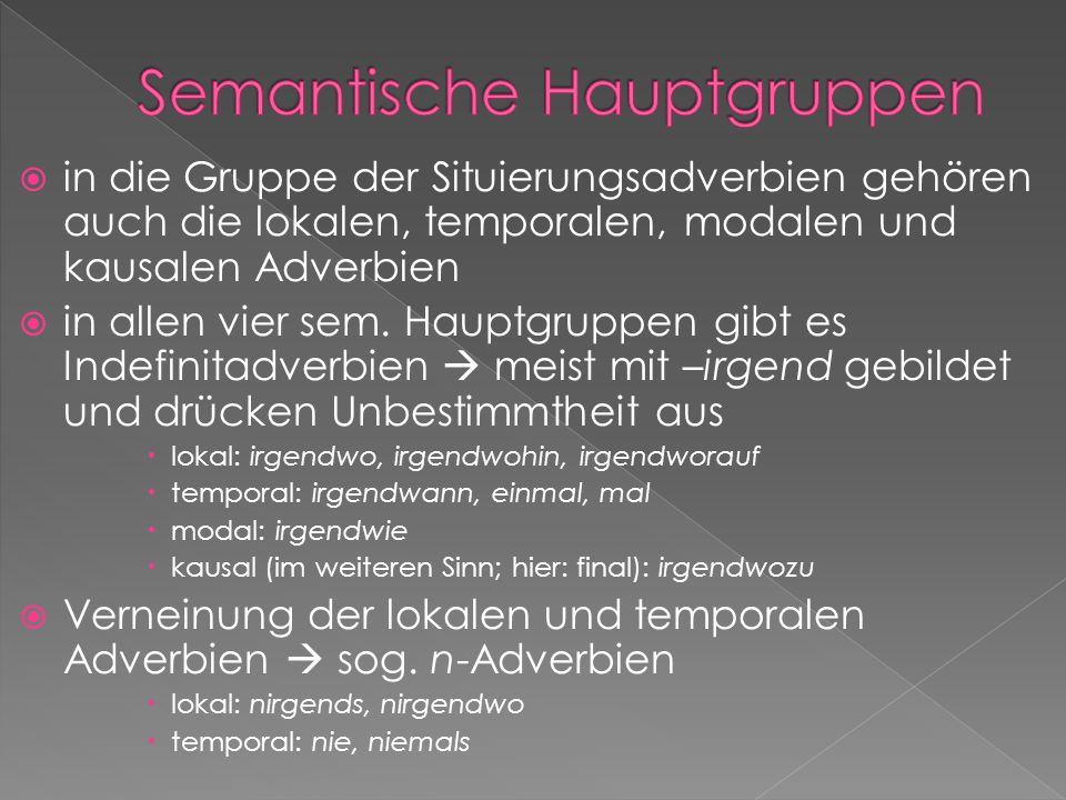 Semantische Hauptgruppen