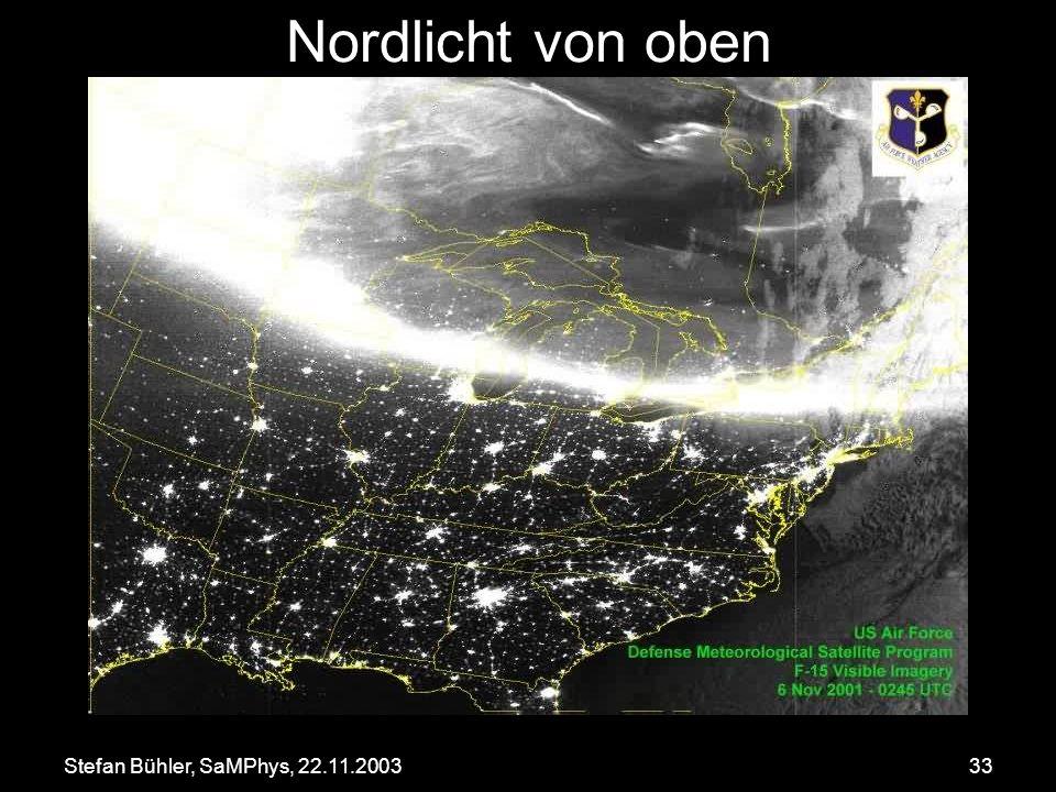 Nordlicht von oben Stefan Bühler, SaMPhys, 22.11.2003