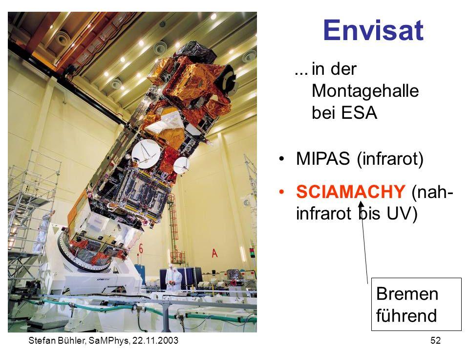 Envisat ... in der Montagehalle bei ESA MIPAS (infrarot)