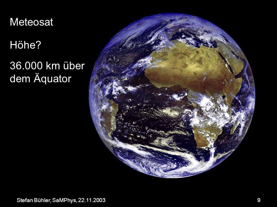Meteosat Höhe 36.000 km über dem Äquator
