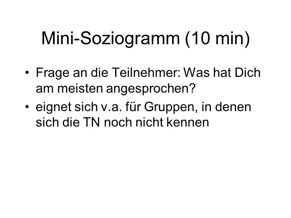 Mini-Soziogramm (10 min)